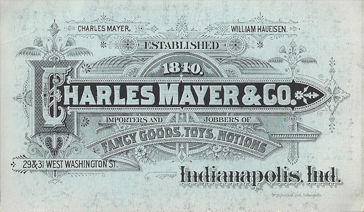 A compress from the original Charles Mayer & Company, established in 1840.